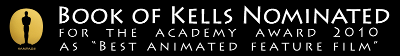 Secret of Kells nominated for the Academey Awards in the category of Best Animated Feature Film 2012